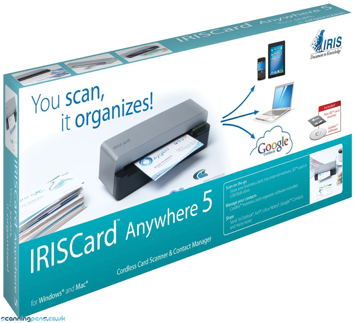 IRISCard Anywhere 5 Mobile Card Scanner